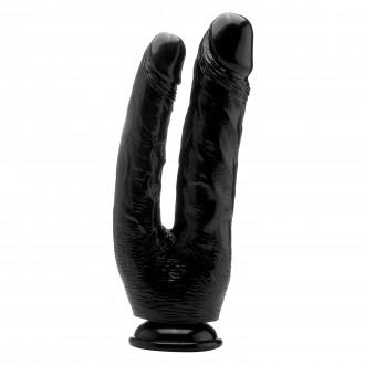 "REALROCK 10"" REALISTIC DOUBLE COCK BLACK"