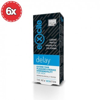 PACK WITH 6 MAN DELAY EXCITE GEL 15ML