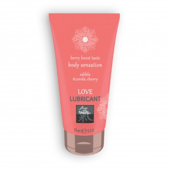 SHIATSU EDIBLE LOVE BERRY BOOST LUBRICANT WITH ACEROLA AND CHERRY FLAVOUR 75ML