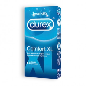 PRESERVATIVOS DUREX COMFORT XL 6 UNIDADES