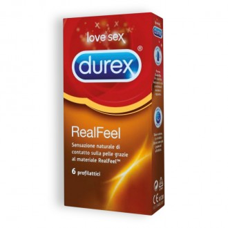REAL FEEL DUREX CONDOMS 6 UNITS