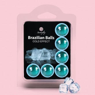 BOLAS LUBRIFICANTES BRAZILIAN BALLS EFEITO FRIO 6 x 4GR