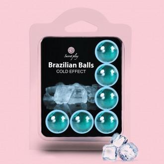 BRAZILIAN LUBRICANT BALLS COOL EFFECT 6 x 4GR