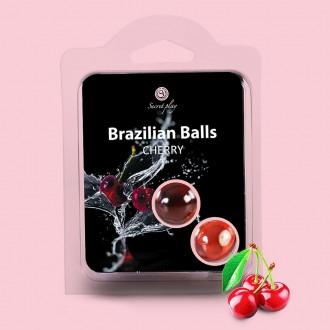 KISSABLE LUBRICANT BALLS CHERRY FLAVOUR 2 x 4GR
