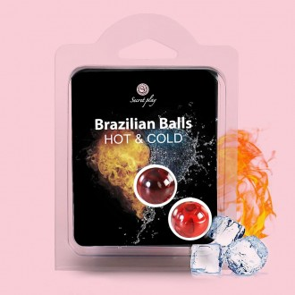 BRAZILIAN LUBRICANT BALLS HOT AND COLD EFFECT 2 x 4GR