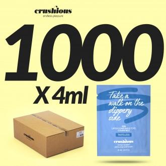 PACK DE 1000 SAQUETAS DE LUBRIFICANTE À BASE DE ÁGUA 4 ML CRUSHIOUS